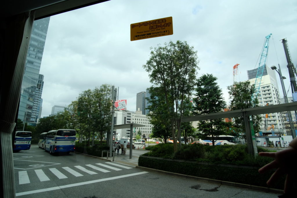 成田空港へ高速バスで移動