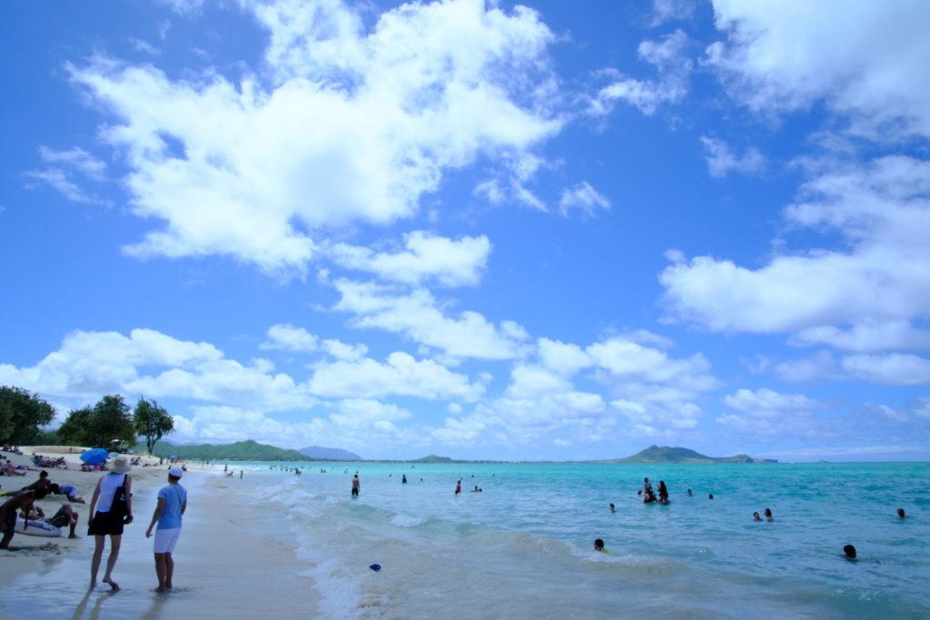 カイルアビーチで遊びましょう