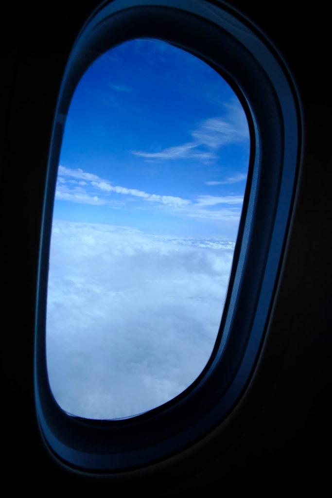 帰国便はエコノミーで羽田空港へ